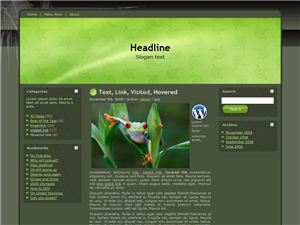 Green Pieces WP Theme