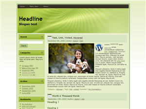 Green Puppy WP Theme