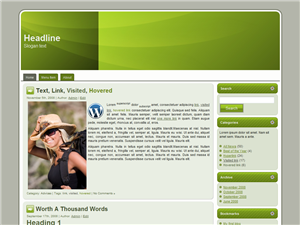 Green Shade WP Theme
