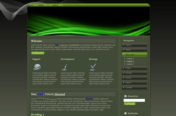 Green Sound HTML Template
