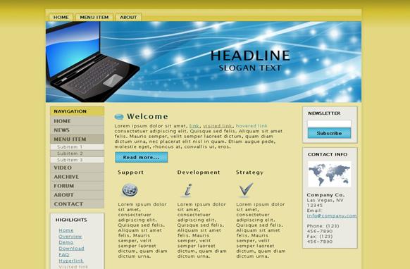 Laptop HTML Template