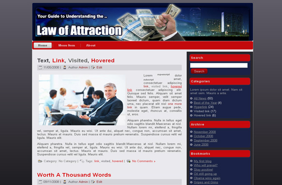 Law Of Attraction HTML Template Edition 1
