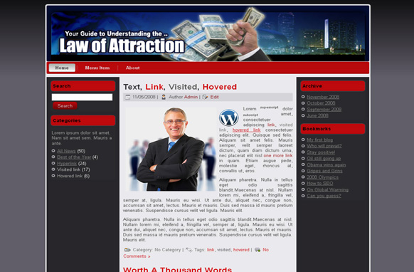 Law Of Attraction HTML Template Edition 4