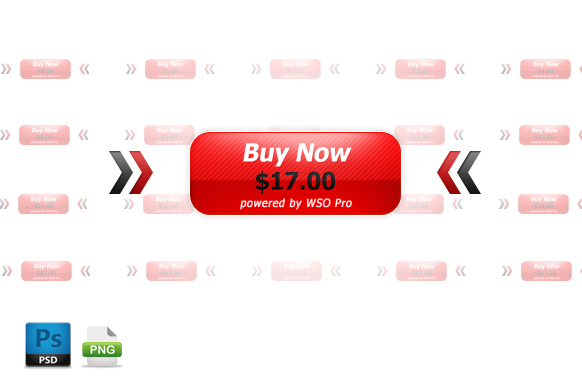 Small Red WSO Pro PSD PNG Buttons