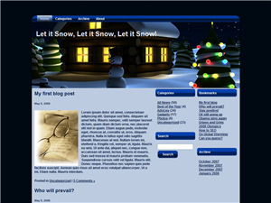 Let It Snow at Christmas WP Theme