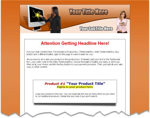 Minisite HTML Template Edition 2