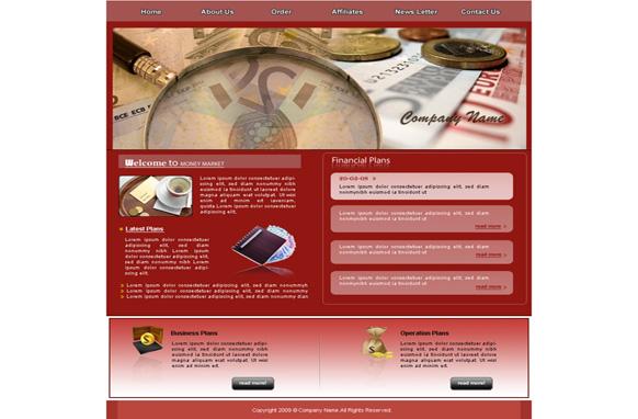 Money Market HTML Template