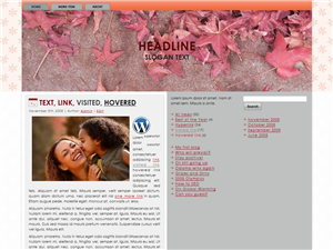 Pink Leave WP Theme