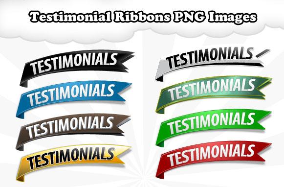 Testimonial Ribbons PNG Images