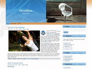 Plastic Chair WP Theme Edition 3