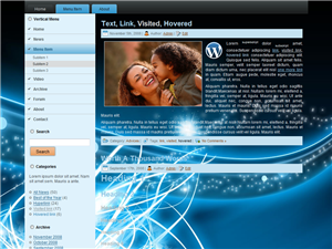 Premium Blue Swirl WP Theme Edition 1