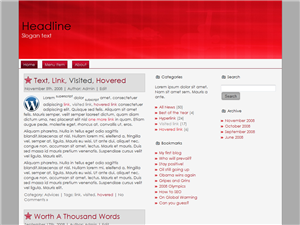 Red Double WP Theme