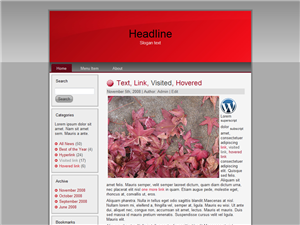 Red Leaf WP Theme