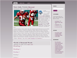 Red Sport WP Theme