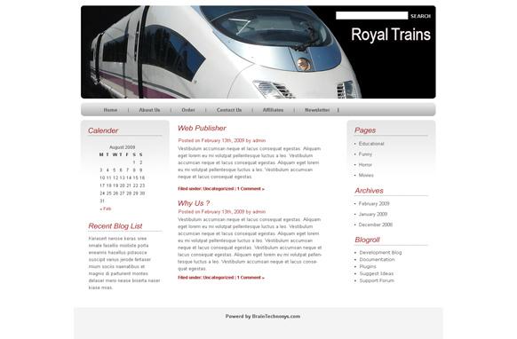 Royal Train WP Theme