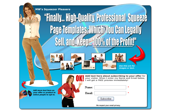 Squeeze Page HTML PSD Edition 2