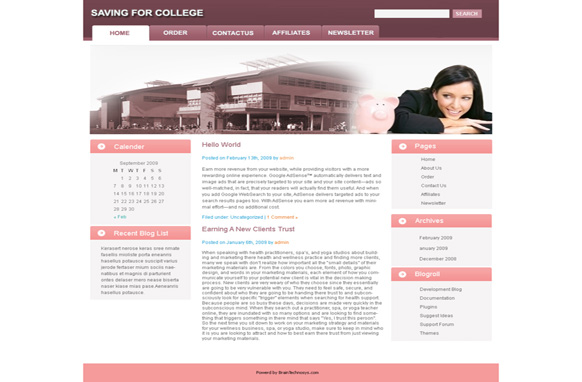 Saving For College WP Theme