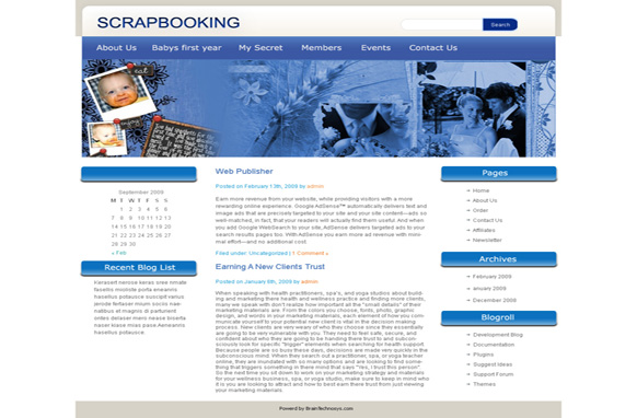 Scrap Booking WP Theme