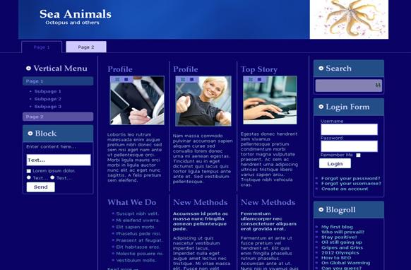 Sea Animals HTML Template