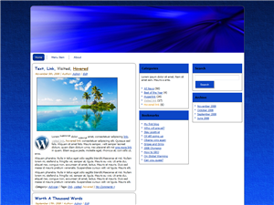 Shades Of Blue WP Theme Edition 2