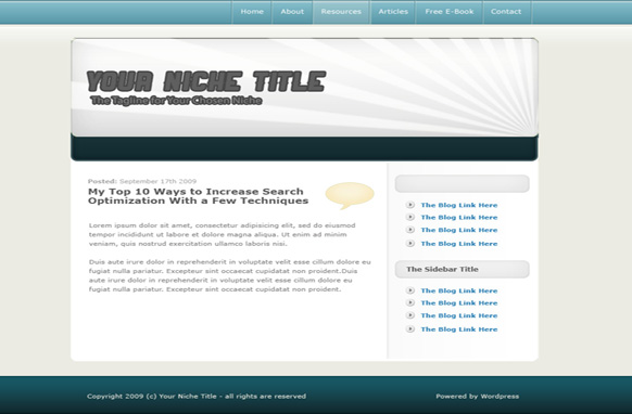 Silver WP Theme & PSD Template
