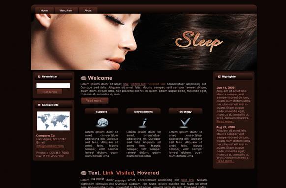 Sleep HTML Template Edition 3