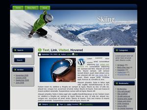 Snow Skiing WP Theme