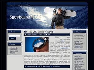 Snowboarding Blogger Theme