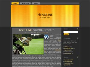 Yellow Golf WP Theme