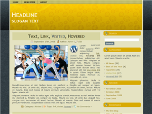 Yellow Nector WP Theme