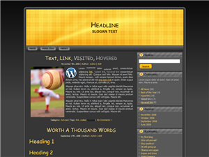 Yellow Pattern WP Theme