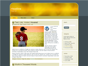 Young Blue WP Theme