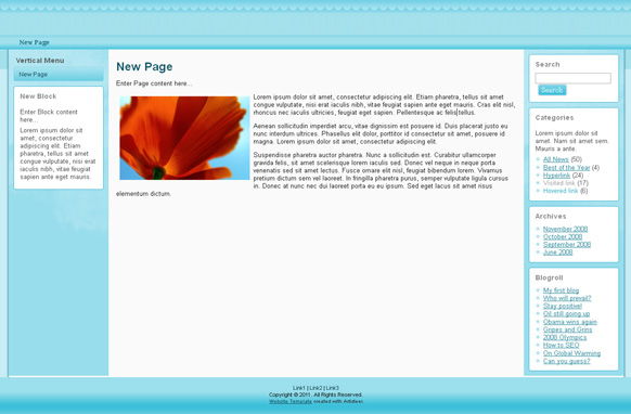 Baby Blue HTML Template