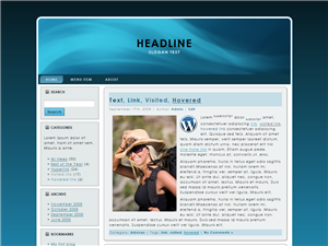 Big Blue WP Theme