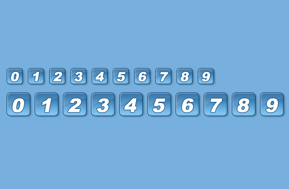 Blue Pagination Set PSD