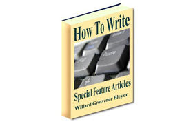 How To Write Special Feature Articles