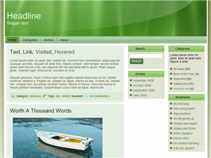 Bizzy Green WP Theme Edition 4