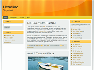 Bizzy Orange WP Theme Edition 2