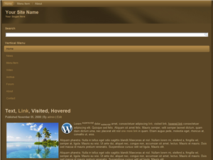 Brown Mobile WP Website Template