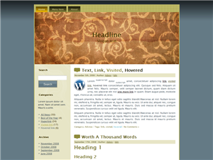 Brown Old WP Theme