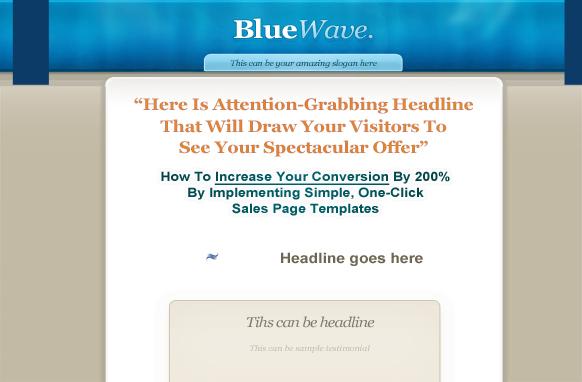 Blue Wave PSD Theme