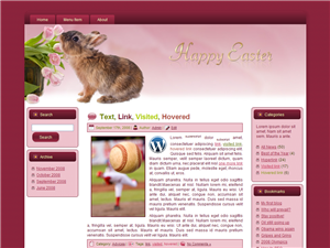 Bunny Easter Parade WP Theme