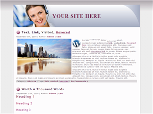 Business Lady WP Theme Edition 2
