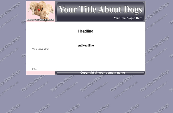 Dogs HTML & PSD Template Edition 1