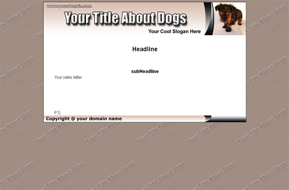 Dogs HTML & PSD Template Edition 3