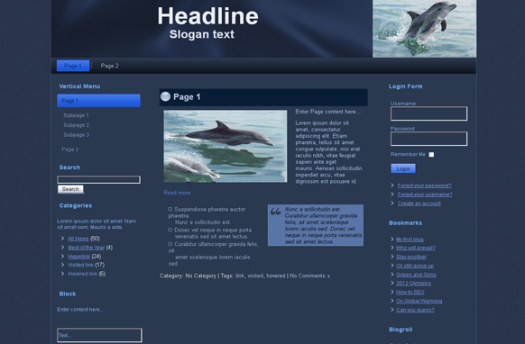 Dolphins HTML Template