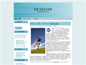 Double Blue WP Theme