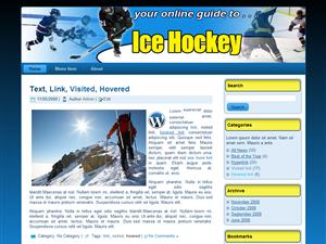 Ice Hockey WP Theme Edition 1