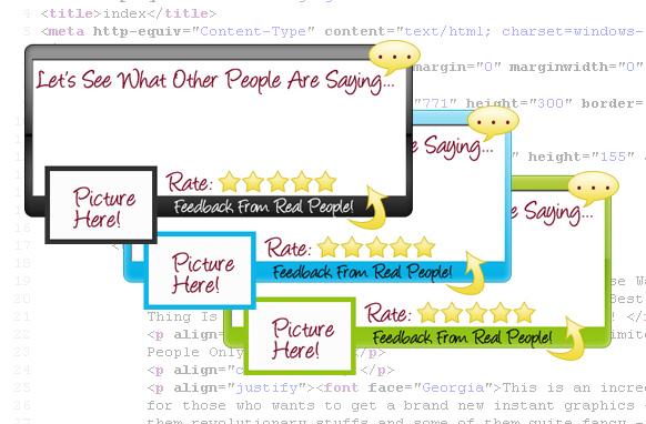 HTML Ready Testimonial Box Collection