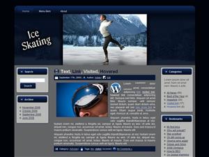 Ice Skating WP Theme